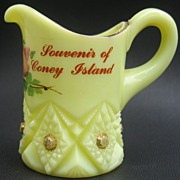 Custard Glass pitcher Souvenir of Coney Island