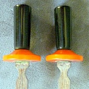 Chrome & Bakelite Corn Holders, c. 1940