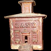 J & E Stevens C 1872 Small Cupola Cast Iron Bank