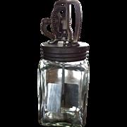 C. 1910 Glass Butter Churn