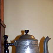 Early Tin Ware Coffee Pot Never used Original Label Rochester Non Rust  Tin Ware