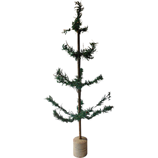 Antique German Feather Christmas Tree Circa 1890