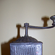 Small Circa 1900 Antique Tin Coffee Grinder