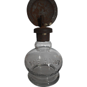 "Miniature ""Handy Lamp"" Whale Oil Lamp with Reflector"