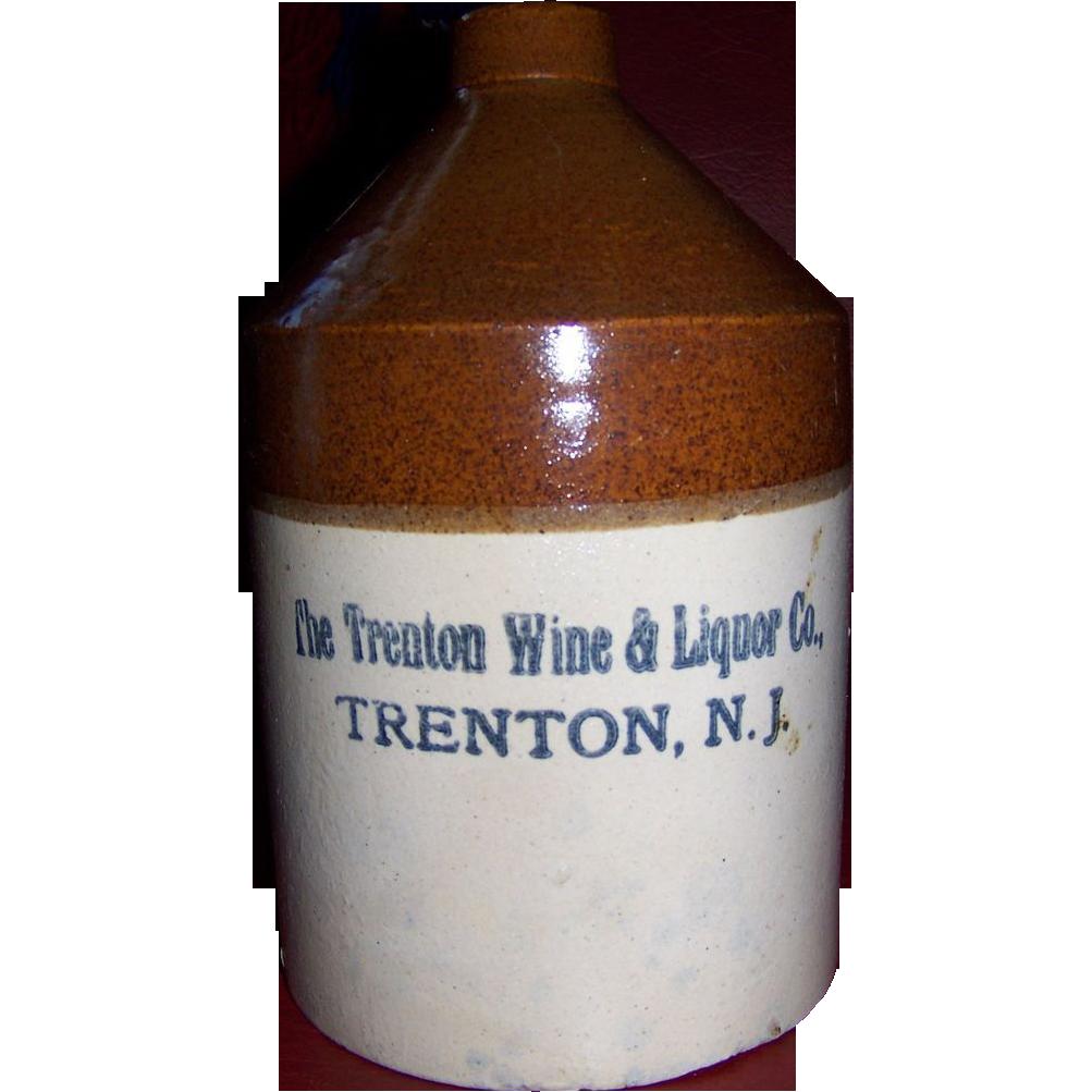 Trenton N.J. 19th Century Liquor Jug