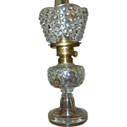 Antique Miniature Oil Lamp Hobnail with Shade