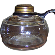 C 1870 Ripley Small Finger Oil Lamp with Iron Handle