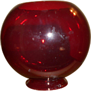 Ruby Red Shade for Miniature Cigar Lighter Oil Lamp