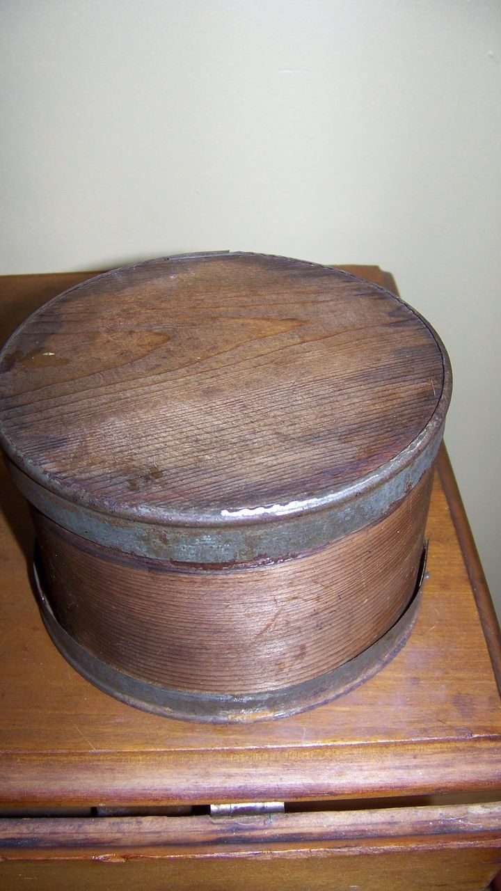 Small 19th Pantry Box with Metal Banding