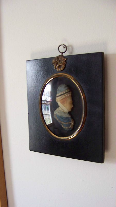 1807 Antique Miniature Wax Silhouette Relief Mrs. Anne Boydell Excellent