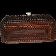 Tramp Art Box Circa 1900 withLid