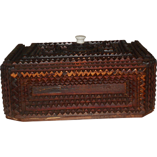 Tramp Art Box Circa 1900 withLid