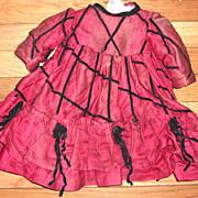 Amazing All Original French Antique Doll Dress pre 1899
