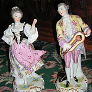 Large Pair of Antique Figurines