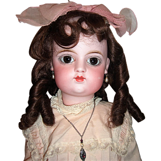 """25"""" Closed Mouth Eden Bebe Antique Doll by Fleischman Bloedel  Two Dresses - Stunning Eyes- Layaway"""