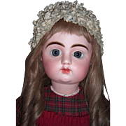 """HUGE 35"""" French Antique Doll by Mystery Maker - Original Body - Straight Wrists - Layaway"""