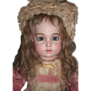 "Stunning 21"" Circle Dot Bru Antique Doll - Antique Dress Layaway"