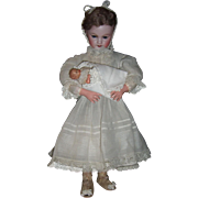 "18"" Charming Automaton by Roullet de Camps - Antique French Doll rocks baby - unusual mechanism - layaway"