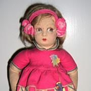 """All original Lenci Felt Doll 13"""""""