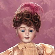 "25"" Favorite Antique Doll by Lanternier-Orig. Clothing, Wig, Shoes, Earrings etc!!!"