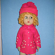 "21"" RARE ALL ORIGINAL Felt Doll by Messina Vat- Lenci Competitor"