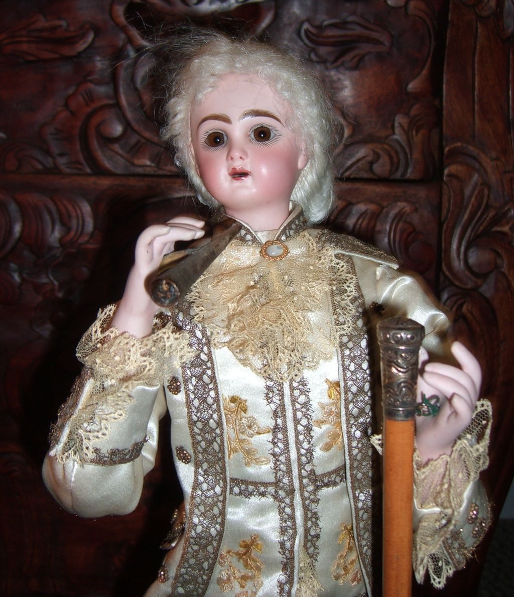 "SOLD TO IC: 23"" French Antique Smoking Automaton Marquis by Leopold Lambert LAYAWAY"