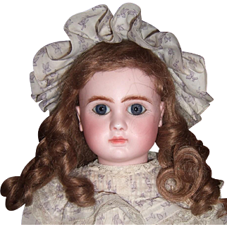 "16"" Steiner Antique Doll with Mint Antique Dress/Shoes Layaway"