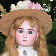 "HUGE 32"" Steiner Fre A-20 Antique Doll Closed Mouth - Layaway - Head Repair"