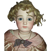 "28"" Stunning Early Jumeau Portrait French Fashion Doll Circa 1878 w/Spiral Eyes - Layaway"
