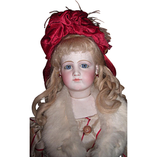 """27"""" Portrait Jumeau French Fashion w/Orig. Dress Adult look layaway"""
