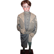 "35"" Antique Doll Mannequin with FG Block Head - Original Boy's Outifit!  Layaway!"