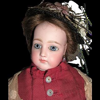 """19"""" Portrait Jumeau French Fashion Antique Doll w/Original Dress & Wig - Layaway"""