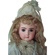 "RARE 23"" AT by Thuiller Circa 1888 - Antique Doll w/Stunning Couture Dress - Layaway"