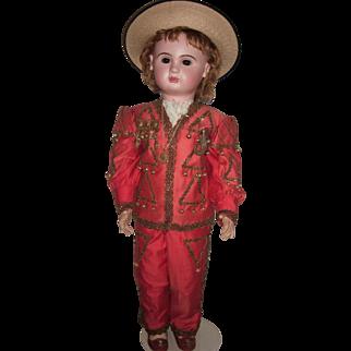 "RARE & Amazing 35"" Paris Bebe Antique Doll in Marquis Costume - Layaway"