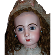 "RARE 33"" Size 16 Jumeau Long Face Triste Antique Doll Layaway"