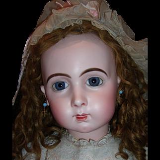 """RARE 33"""" Size 16 Jumeau Long Face Triste Antique Doll Layaway"""