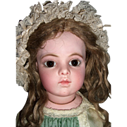 "21"" BARGAIN Bru Jne Bebe Size 8 antique doll - Restored Head, Chevrot Body - Layaway"