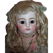"Beautiful 18"" Antique FG Block French Bebe Doll - Original dress & wig - Eight loose BJB Layaway"