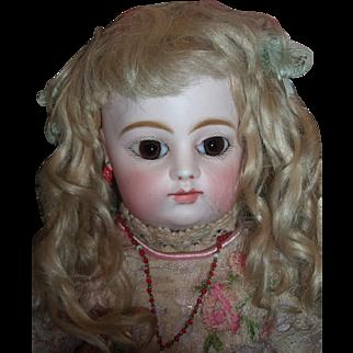 "Beautiful 18"" Antique FG Block French Bebe Doll - Original dress & wig - Eight loose BJB Layaway"