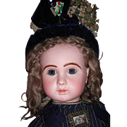 RARE ALL ORIGINAL Steiner Antique Doll with Couture Clothing/Hat - Layaway