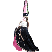 "19"" Jumeau Antique French Fashion Doll Dressed as Medievel Queen - Layaway"