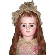 "27"" Bru Jne R Antique Doll with Chevrot Body Circa 1892 & 2 Antique Dresses  -Label - Layaway"