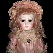 "16"" RARE First Series Almond Eye Antique Jumeau Portrait Doll Layaway"