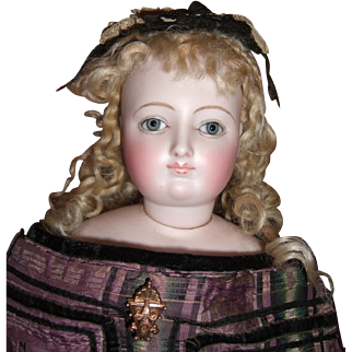 """Lovely 20"""" Antique French Fashion Doll Circa 1867 BISQUE arms Layaway"""