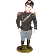 "RARE All original Antique German Soldier Candy Container 13 1/2"" tall - layaway"