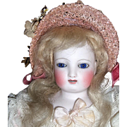 "15"" Antique Gliding Steiner Doll - Original Dress - Bisque Arms - Layaway"