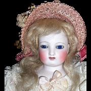 """15"""" Antique Gliding Steiner Doll - Original Dress - Bisque Arms - Layaway"""