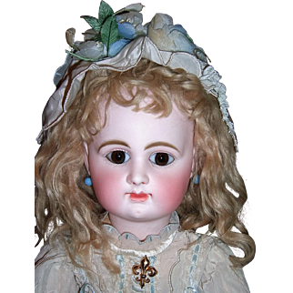 VERY EARLY RD Antique Doll - Straight Wrists - Poured Bisque Head- Marked French Shoes - Layaway