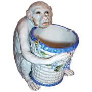 Antique Monkey - Figurine w/Bowl