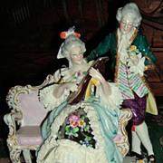 Dresden Lace Figurine - Sitzendorf